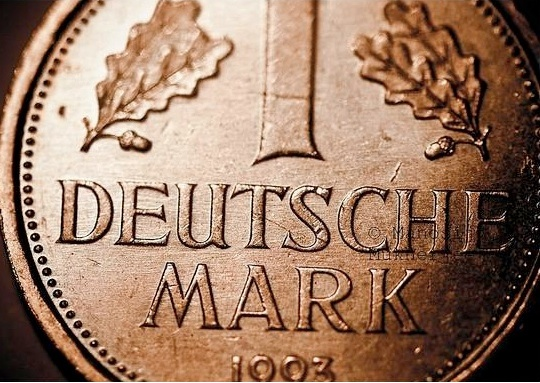 Deutschemark en or