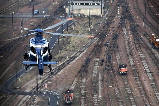 Surveillance hélicoptère contre le vol de métaux