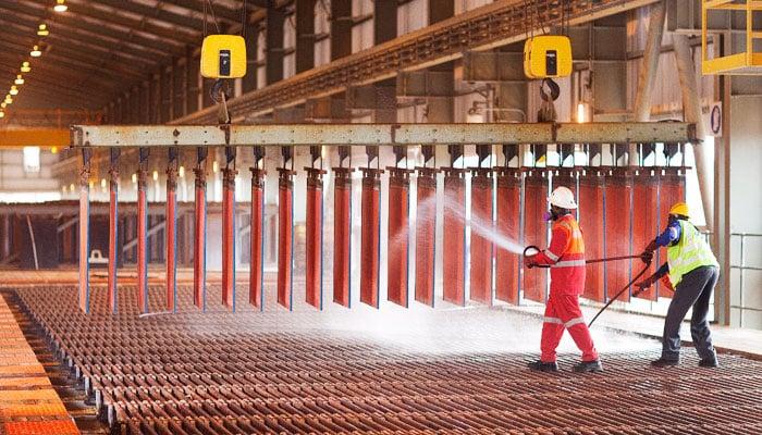 Production de cuivre en Chine